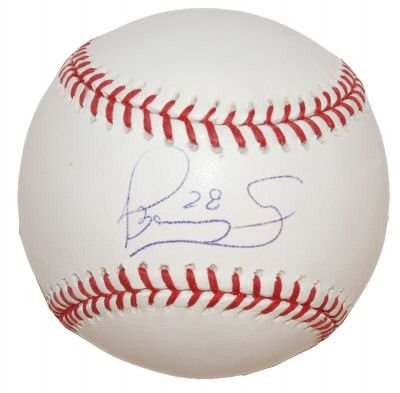 DANYS BAEZ SIGNED OFFICIAL MAJOR LEAGUE BASEBALL (ASI)