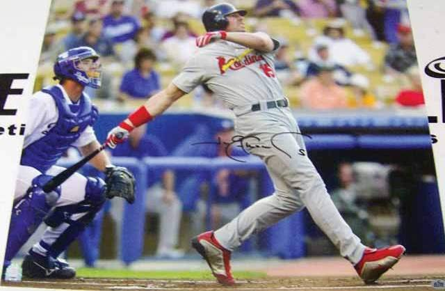 Jim Edmonds Signed 16X20 Photo (MLB, Elite)