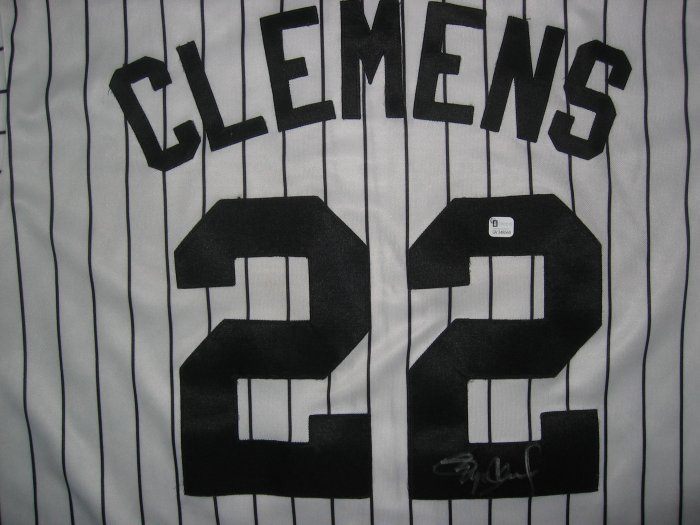 Roger Clemens Signed Astros Jersey (GAI)