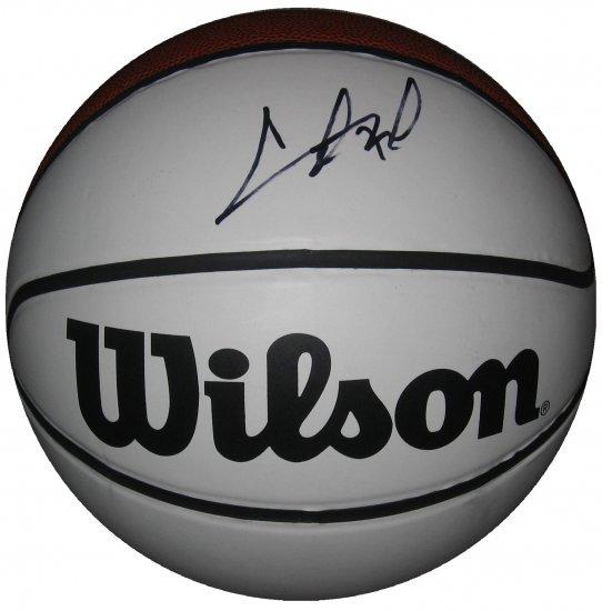 Chris Bosh SIgned Wilson's Full Size White Panel Basketball (GAI)