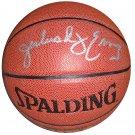 DR. J Julius Erving Signed Basketball (Mounted Memories)