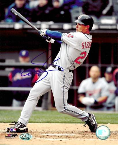 Grady Sizemore Signed Cleveland indians Photo File 8x10 (PSA/DNA)
