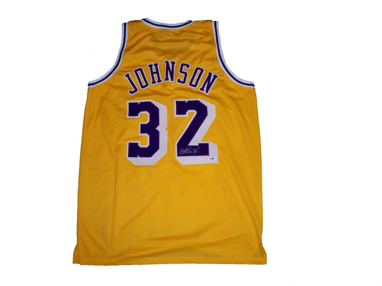 Magic Johnson Signed Lakers Jersey (PSA/DNA)