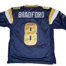 Sam Bradford Signed Blue St. Louis Rams Jersey (JSA)