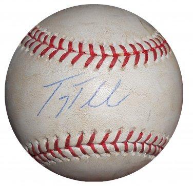 Troy Tulowitzki Signed Game Used OMLB Baseball (Steiner)