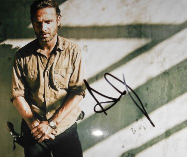 Andrew Lincoln Signed Rick Grimes Walking Dead 8x10 Photo