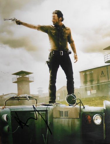Andrew Lincoln Signed Rick Grimes Walking Dead 11x14 Photo
