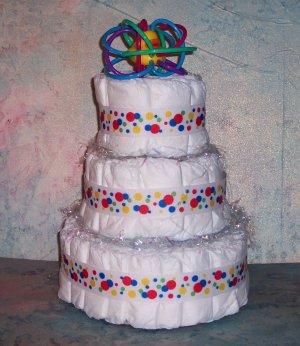 Bright PRIMARY COLORS Classic Baby Diaper Cake