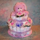 BUNNY BOY or GIRL Baby Shower Diaper Cake Centerpiece