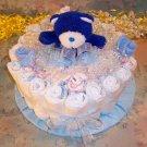 1 Tier BOY or GIRL Baby Shower Gift DIAPER CAKE