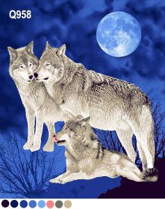 Wolves and full moon, Q958