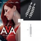2020 AVA Jessica Chastain Willow Leaf Earrings Leaves CZ Pendant Assassin Cosplay Props Gift