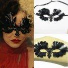 Movie Cruella Emma Stone Prop Cosplay Halloween Masquerade Mask Party Gift