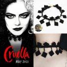Movie Cruella Emma Stone Lace Tassel Necklace Prop Cosplay Halloween Party Gift