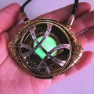 Dr Doctor Strange Eye of Agamotto Amulet Fluorescent Glow Pendant Necklace Prop Cosplay Gift