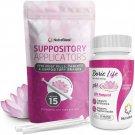 NutraBlast Boric Acid Suppositories 600mg w/ Vaginal Applicator, 30 Suppositories & 15 Applicators