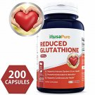 Reduced Glutathione 500mg - 200 Capsules Non-GMO & Gluten Free - L-Glutathione Antioxidant Support