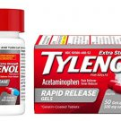 Tylenol Extra Strength Rapid Release Gels with Acetaminophen, Pain Reliever & Fever Reducer, 50 ct