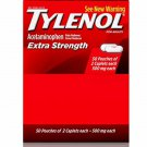 Tylenol Extra Strength Caplets with Acetaminophen, Pain Reliever & Fever Reducer, 2-caplet of 50 ct