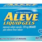 Aleve Liquid Gels, Naproxen Sodium Capsules 220 mg (NSAID), Pain Reliever/Fever Reducer,