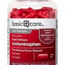 Basic Care Rapid Release Acetaminophen Caplets, 400 Count