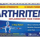 Arthriten Inflammatory Pain Formula Caplets 28 Count, with 3 Active Ingredients for Maximum Pain