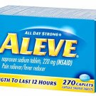 Aleve Caplets, Naproxen Sodium 220 mg (NSAID), Pain Reliever/Fever Reducer