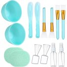 Facial care tools, 7 in 1 DIY Mixing Tool Kit with Facial Bowl Stick Spatula Silicone Brus