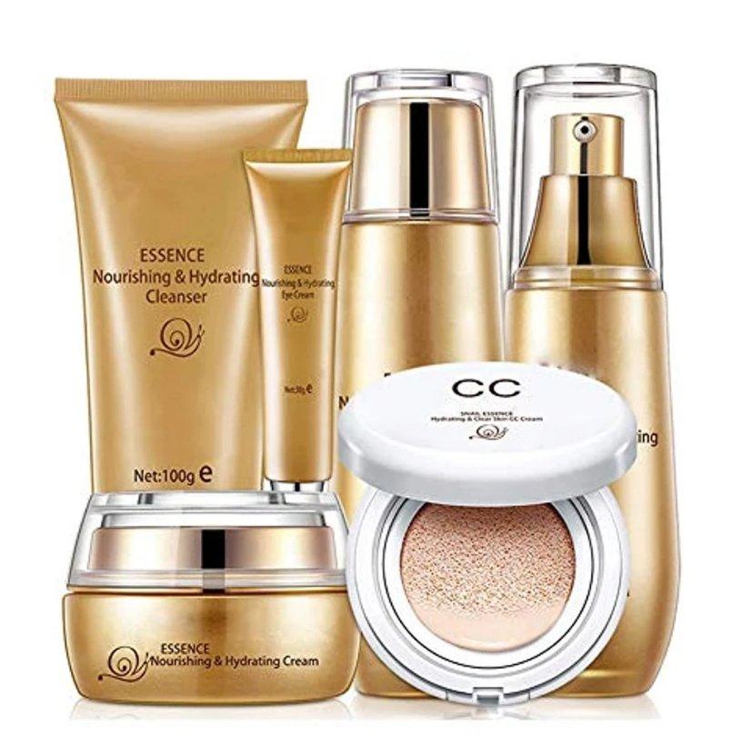 Skin Care Sets & Kits, 6 Pcs Fairy Skin Facial Set Snail Moisturizer Repair Provide Hydration