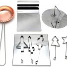 Dalgona Korean Squid Game Sugar Candy Cookies Stainless Copper Plate Making Tools
