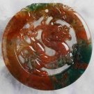 47x4 Indian Agate Carved Dragon Pendant Bead