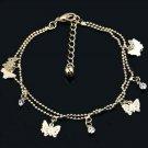 Butterfly Rose Gold Plated Swarovsky Crystal Bracelet -Anklet Jewelry Gift