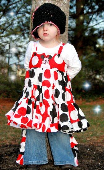 Minnie Patchwork dress and ruffle pants sz 18-24 2T 3T