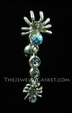 Reverse-Style AB Crystal Spiders Navel Jewelry
