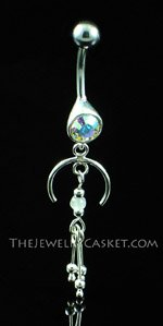 Elegant AB Crystal Navel Jewelry