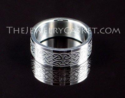 Celtic Knot Steel Ring ~ Sizes 8 - 13