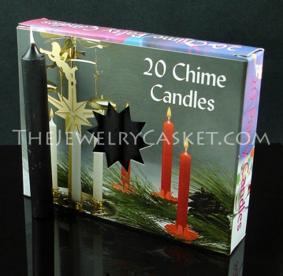 Black Chime Candles ~ 20-Pack