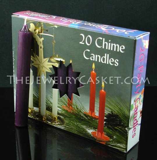 Dark Purple Chime Candles ~ 20-Pack