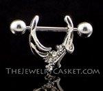 Silver & Crystal Pincher ~ Nipple Jewelry Pair