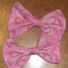 Pink Heart Bows (PAIR)