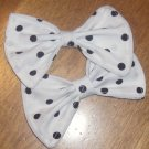 Black/White Polka-Dot Bows (PAIR)