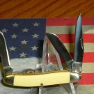 Rough Rider Stockman Yellow Handle Miniature Knife RR811