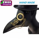 Steampunk Long Nose Crow Renaissance Bird Beak Mask Plague Doctor Dr Costume