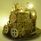 LED Top Hat Steampunk Metallic Mad Time Traveler Mardi Gras Coachella Costume