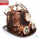 Steampunk Copper Top Hat Costume Cosplay Party With Clock and Gears Handmade