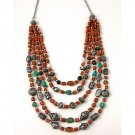 Coral and Turquoise Necklace - India