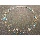 Silver Wire and Multi-Stone Necklace - Brazil