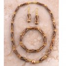 Authentic African Bamboo Jewelry Set - Ghana