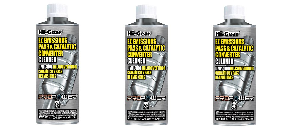 3 pieces HI-GEAR CATALYTIC CONVERTER & FUEL SYSTEM CLEANER 444ml