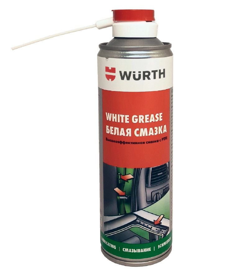 WURTH White Grease with PTFE additives white 300ml